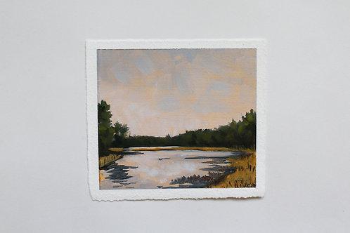 """Adams Point"" 5x5 1/2 original oil painting"