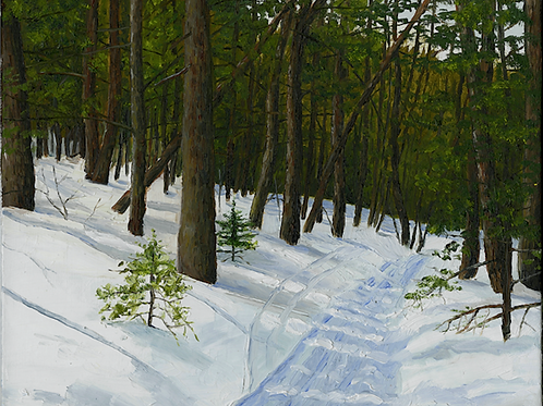 """Fire Warden's Trail"" 8x10 original oil painting"