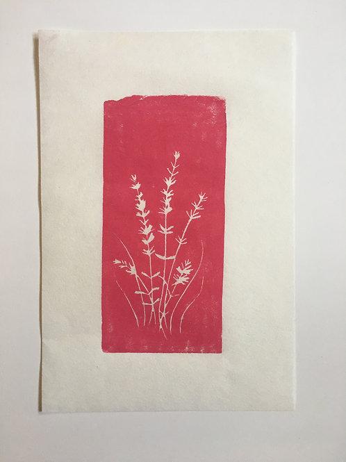 Original block print | PINK