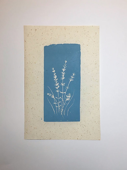 Original block print | POWDER BLUE