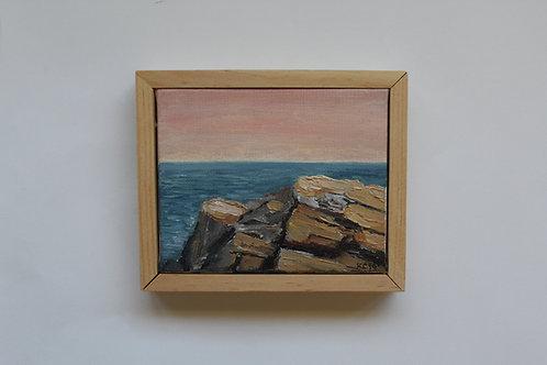 """Eastward"" 5x4 original oil painting"