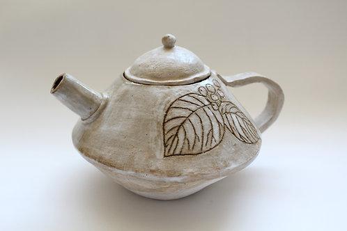 """Native Plants of Maine"" ceramic tea kettle"