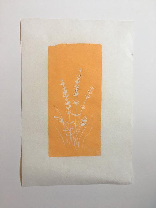 Original block print | YELLOW OCHRE