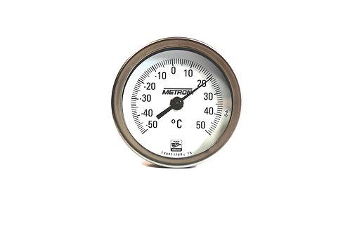 """Termómetro Ángulo Variable 3""""  Vastago 6"""" Rango -50 A 50"""