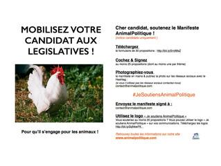 Mobilisez le candidat de votre circonscription pour qu'il s'engage à soutenir le manifeste A