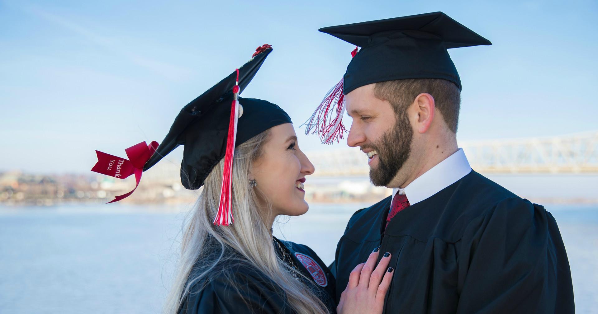 Graduation couple photo session