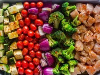 Meal Prep - Healthy Roasted Chicken & Veggies