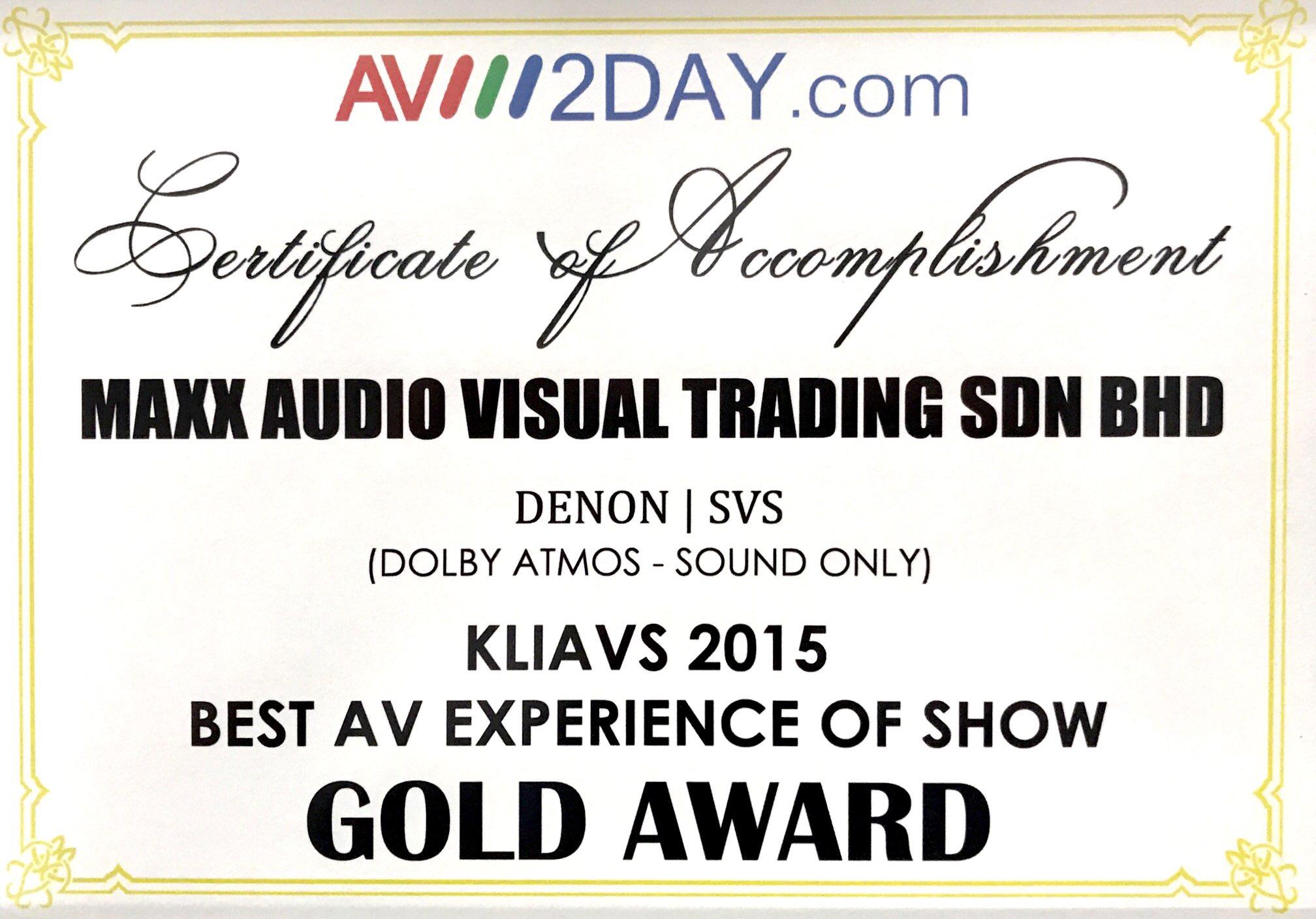 Maxx Audio Visual | Accolades & Gallery