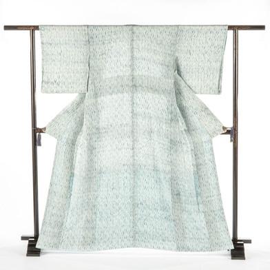 Tie and Raw Indigo Kimono
