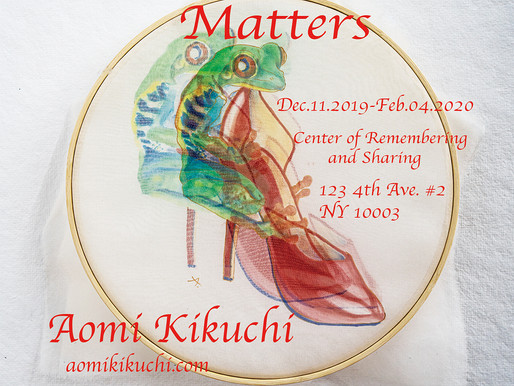 Matters Solo Show Exhibition has been extended to early March due to popularity!!!