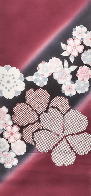 Obi- Classic Cherry Blossom Pattern