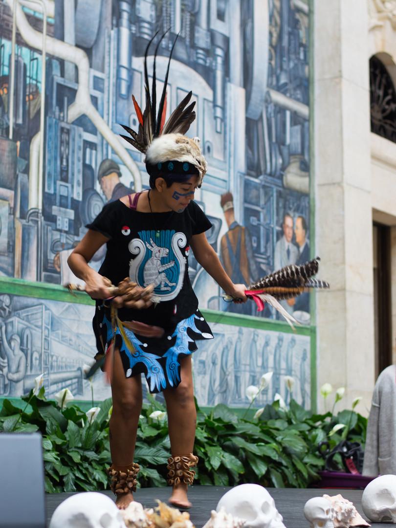 Aztek Dance demo at the Detroit institute of Arts