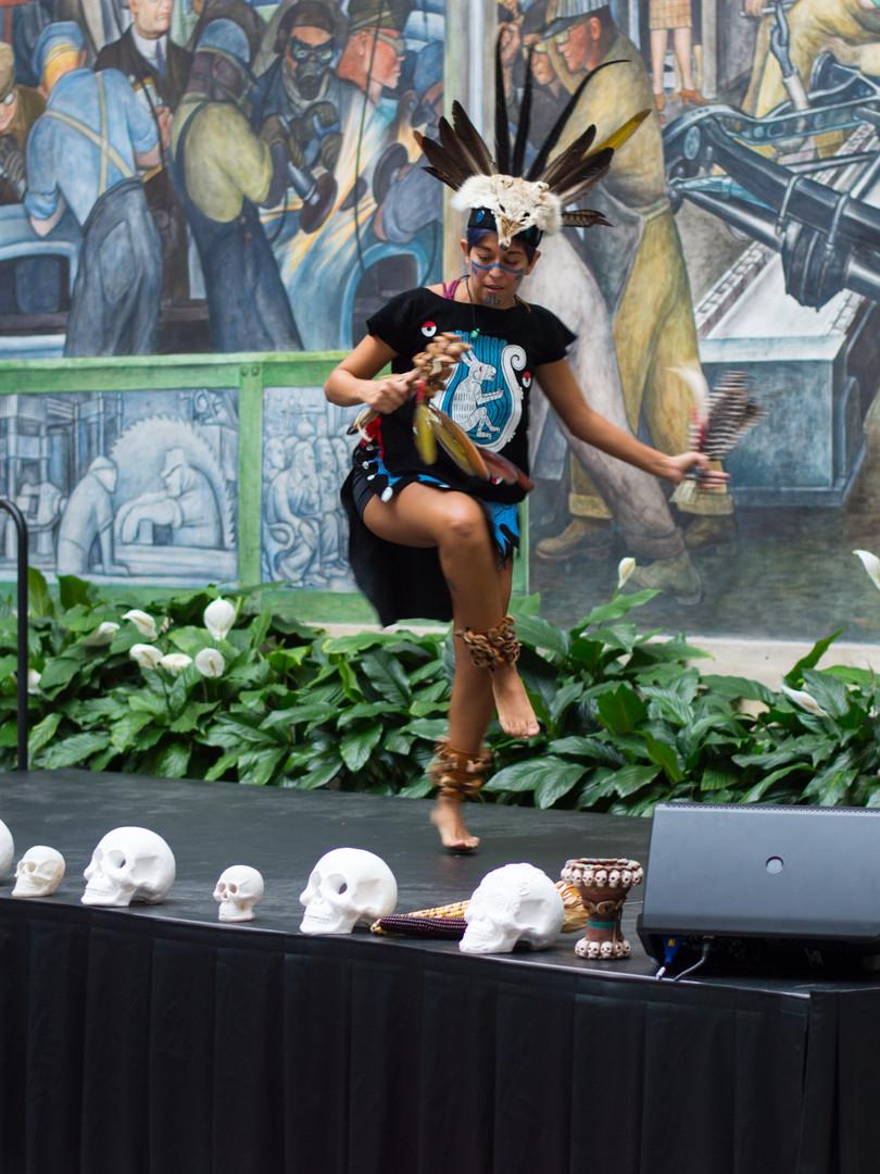 Aztek Dance demo at Rivera Court