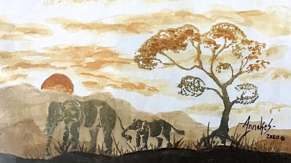 Elephant landscape cards