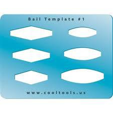Jewelry shape template - bail # 1
