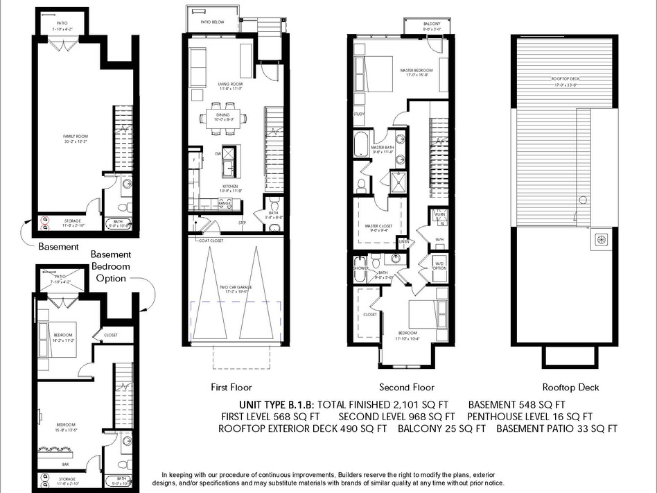 Logan Brownstones Floor Plan B.1.B