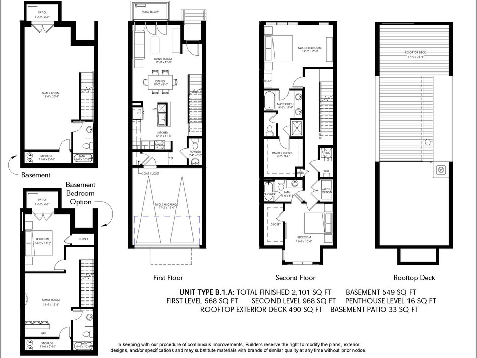 Logan Brownstones Floor Plan B.1.A