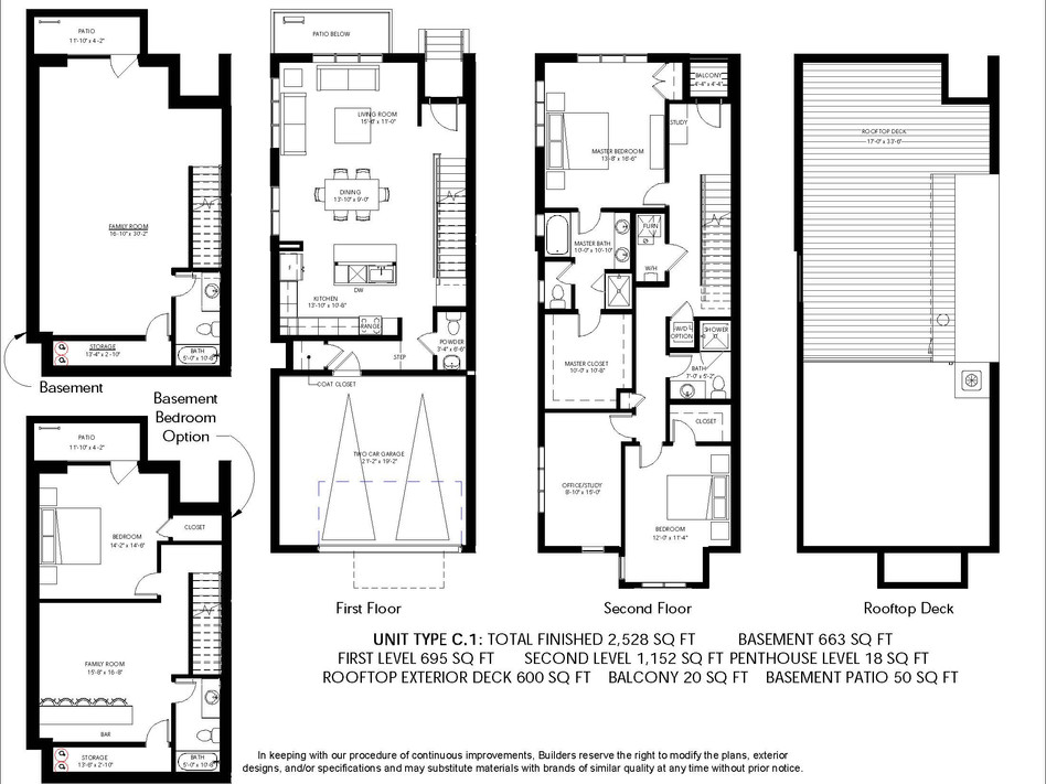 Logan Brownstones Floor Plan C.1