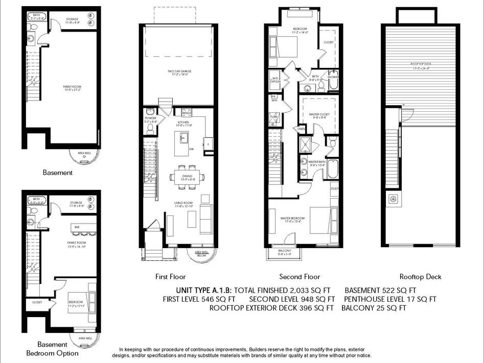 Logan Brownstones Floor Plan A.1.B