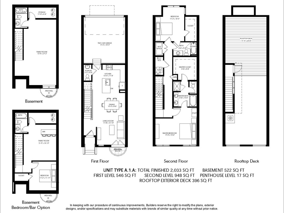 Logan Brownstones Floor Plan A.1.A