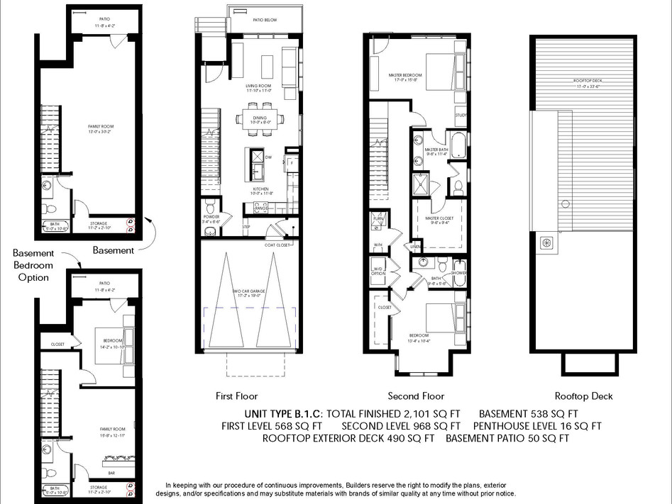 Logan Brownstones Floor Plan B.1.C