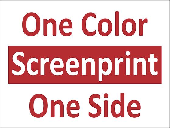 25 qty. 1C/1S Screen printed yard signs