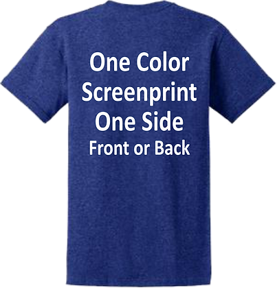 24 qty. 1 Color print on 1 Side