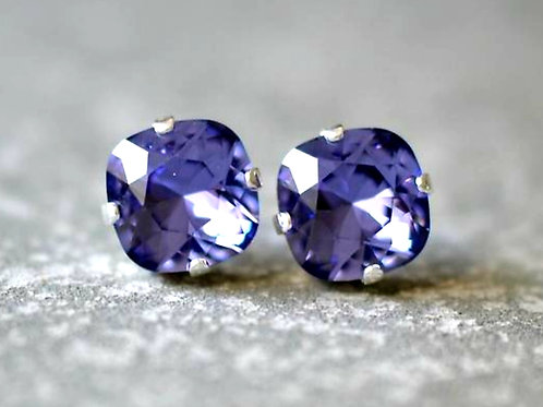 tanzanite purple Earrings
