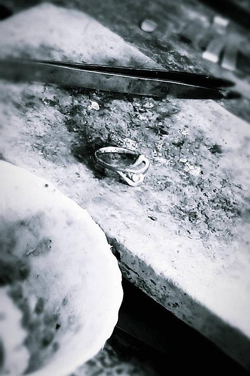 custom ring work in process