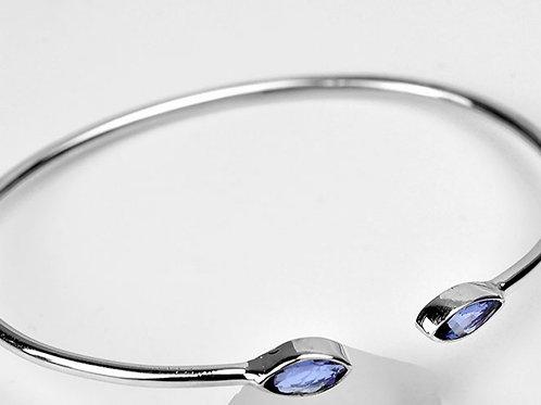 silver tanzanite bracelet