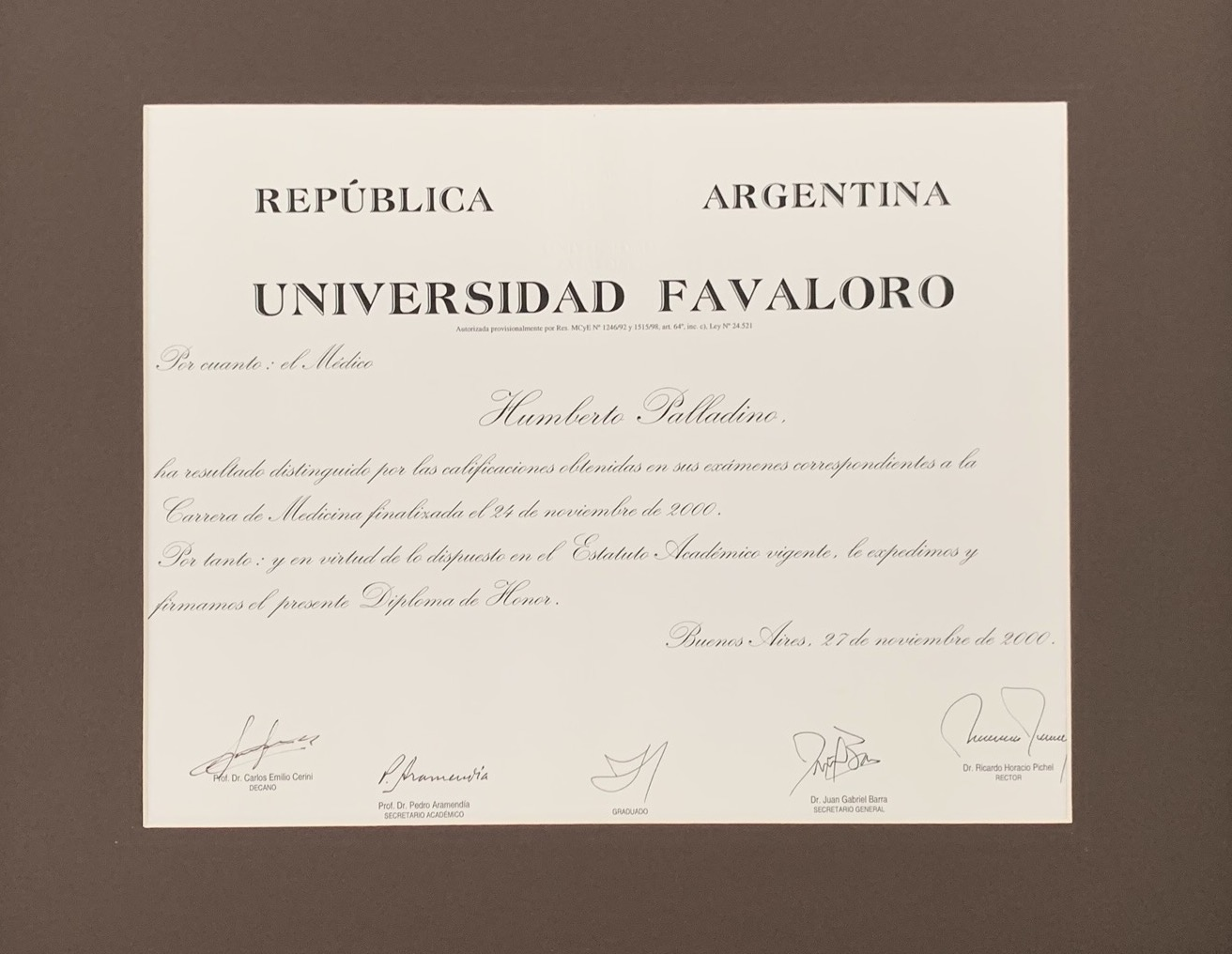Medical University Honor Diploma