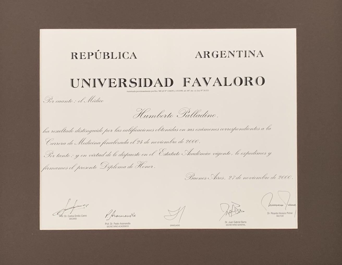 Medical University Honor Diploma