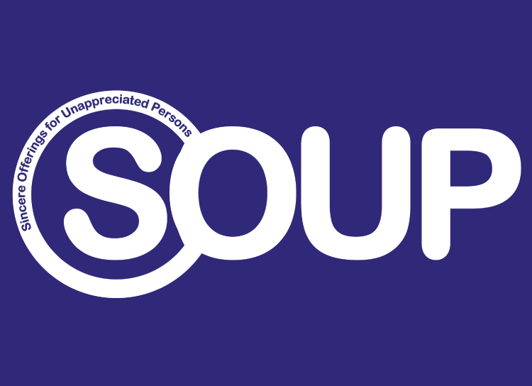 SOUP Charity's new logo