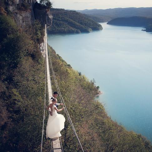 C*G .. Au lac de Vouglans, Jura (39) En after Day Mariage