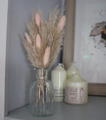 Pink Dried Mini Vase