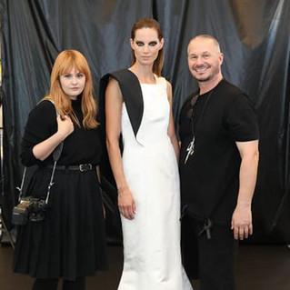 Haute Couture Award Wien( Model Iris Struberger in meinem Kleid und Wolfgang Reichl)