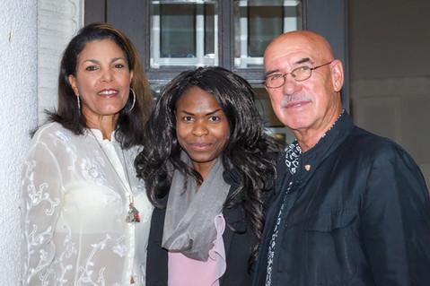 Mit Otto und Shirley Retzer bei meiner Fadhion Show 2016