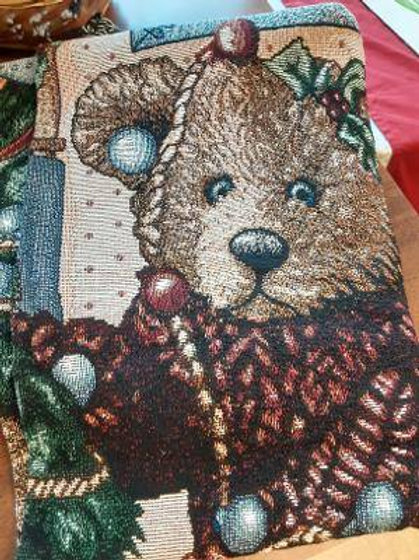 Item #56. Christmas Bears throw.