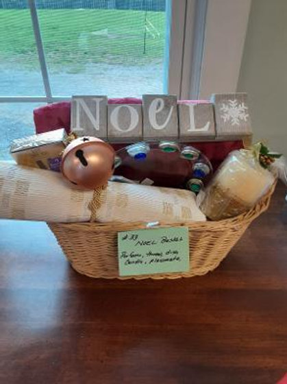 Item #33. Noel basket.  See below for further description.