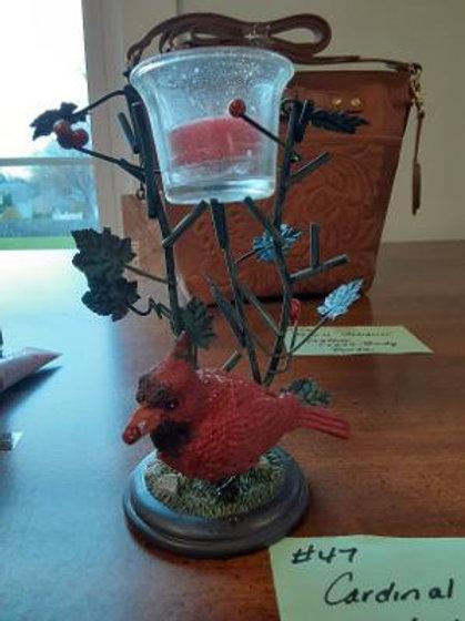 Item #47. Cardinal candleholder.