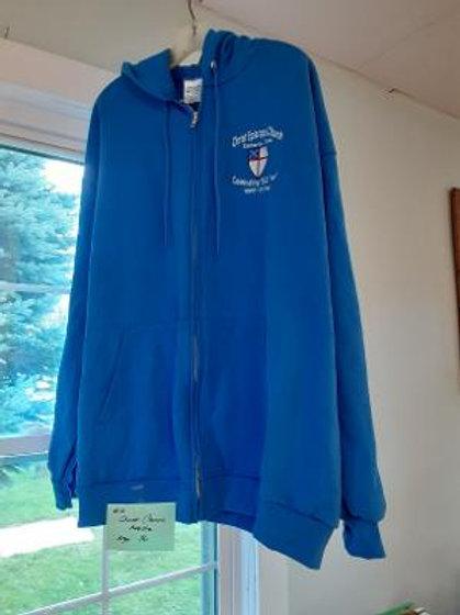Item # 10. Christ Church logo hoodie. Size XL