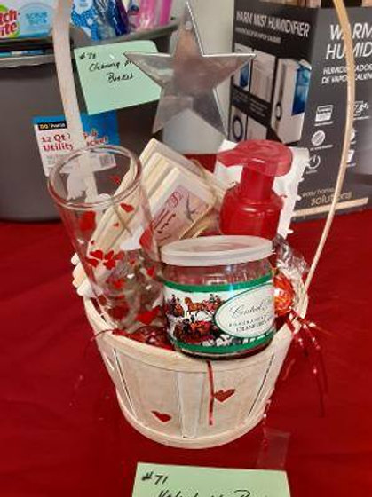 Item #71. Valentine's basket. See below for more description.