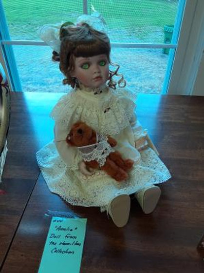 "Item #44. ""Amelia"" doll by The Hamilton Collection. Excellent condition."