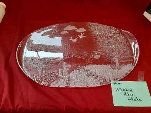 Item #15. Mikasa glass platter.
