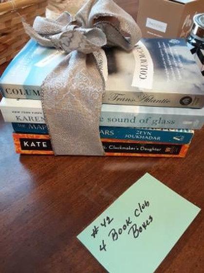 Item #42. Four book club books.