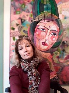 galla, artiste, art, textile