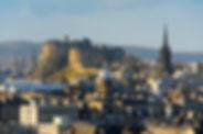 Edinburgh-Castle-Cityscape,-Scotland,-UK