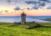 Acient-tower-on-the-coast-of-Co.-Clare-a