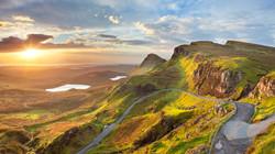 Sunrise-at-Quiraing,-Isle-of-Skye,-Scotl