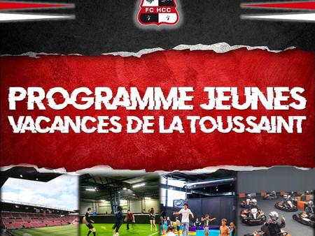 Programme jeunes - Vacances Toussaint